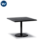 Camino Series Table Only - 36 x 36 Square Pedestal Table  Square Perforated