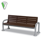 Green Valley - 6 Foot Bench with back - Portable/Surface Mount