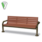 Green Valley - 6 Foot Bench with back - Inground