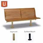 Burns Harbor Collection 6' Outdoor Bench with Back, without Arms