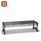 Butler Collection Outdoor  Bench without Back - Portable/Surface Mount