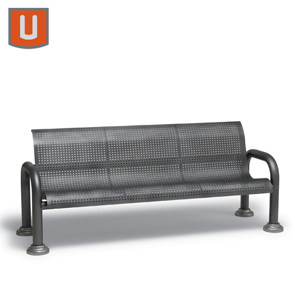 Camden Collection 6' Outdoor Bench with Back with Arms - Portable/Surface Mount