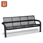 Camden Collection 6' Outdoor Bench with Back,  with Arms - Inground
