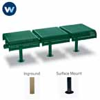City Limits Series 3-Seat Straight Outdoor Bench without Back