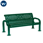 Contemporary Series 4' or 6'  Bench with Back- Portable/Surface Mount