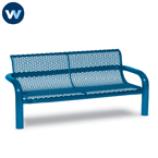 Contemporary Series 4' or 6'  Bench with Back- Inground