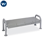 Contemporary Series 4' or 6'  Bench without Back- Portable/Surface Mount