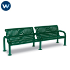 Contemporary Series 8' Bench with Back - Portable/Surface Mount