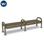 Contemporary Series 8' Bench without Back - Portable/Surface Mount