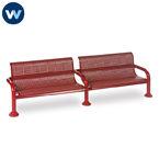 Contemporary Series 8' Bench with Back - Inground
