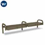 Contemporary Series 8' Bench without Back - Inground