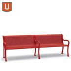 Covington Collection 8' Outdoor Bench with Back - Portable/Surface Mount