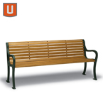 Covington Collection 4' & 6' Outdoor Benches with Back - Portable/Surface Mount