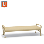 Covington Collection 4' & 6' Outdoor Benches without Back - Portable/Surface Mount