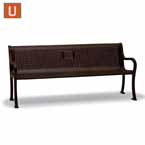 Covington Collection 6' Memorial Bench w/back/ w/arms - Portable/Surface Mount