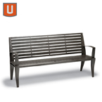 Dewart Collection 6 foot Outdoor Bench w/back, w/arms Portable/Surface Mount