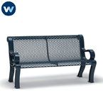 Estate Series 4 foot and 6 foot Outdoor Bench with Back