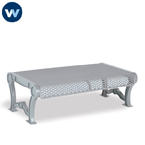 Estate Series 4 foot and 6 foot Outdoor Bench without Back
