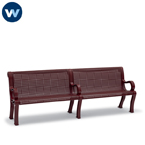 Estate Series 8 foot Outdoor Bench with Back