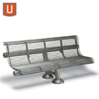 Geneva Collection 6 foot Outdoor Bench with back, without arms