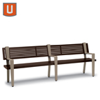 Rockport Collection 8' Bench with Back, with Arms - Portable/Surface Mount
