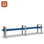 Rockport Collection 8' Bench without Back, with Arms - Portable/Surface Mount