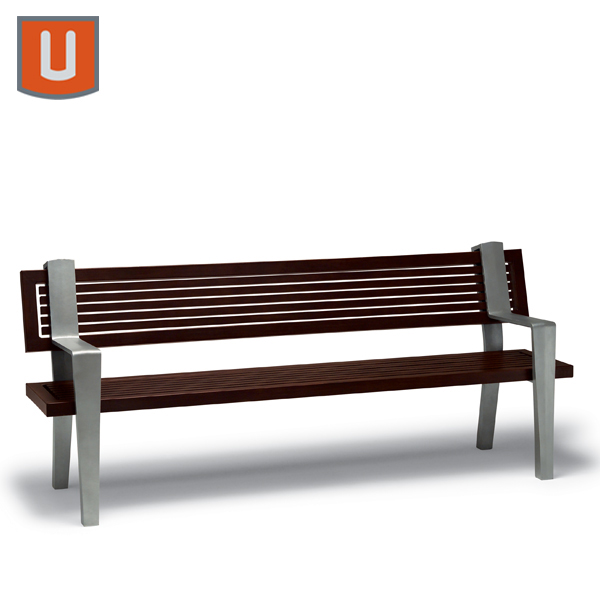Rockport Collection 6' Bench with Back, with Arms