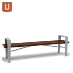 Rockport Collection 6' Bench without Back, with Arms