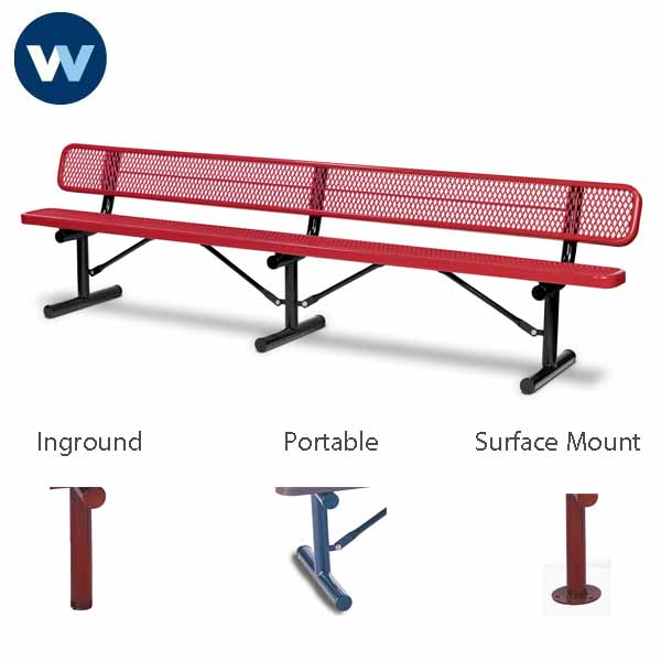 "Signature Series 10 foot and 15 foot  Benches with back - 10"" Wide Seats"