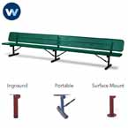"Signature Series 10' and 15' Player Benches with back - 15"" Wide Seats"