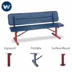 "Signature Series 6' and 8' Player Benches with back - 15"" Wide Seats"