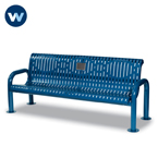Specialty Series Memorial 6' Contemporary Bench with plaque - Portable/Surface Mount