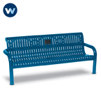 Specialty Series Memorial 6 foot Contemporary Bench with plaque - Inground