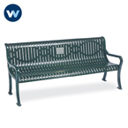 Specialty Series Memorial 6 foot Courtyard Bench with plaque