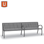 Winchester Collection 8' Bench with Back, with Arms - Portable/Surface Mount