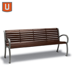 Winchester Collection 4' and 6' Benches with Back, with Arms - Portable/Surface Mount