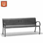 Winchester Collection 6 foot Memorial Bench with Back, with Arms - Portable/Surface Mount