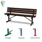 Green Valley - 6 foot Outdoor Benches with Back