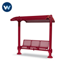 Shadeland Series Shelter with 3-Seat Single Bench