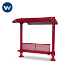 Shadeland Series Shelter with 6' Single Bench