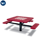 Specialty Series Game Tables - 46 inch Square Signature Style (ADA Accessible) - 3 Seats - Basic Frame - Inground