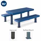 Designer Series Rectangular 6' & 8' Picnic Table