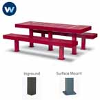Designer Series Rectangular 8' Table w/ Center Leg