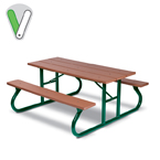 Green Valley 6 fioot & 8 foot Picnic Tables - Portable
