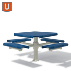 Portage Collection 46 inch Square Table with 4 Seats - Inground