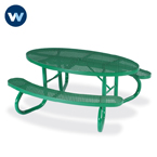 Signature Series Picnic Tables - 6' Oval - Portable