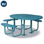 Signature Series Round - ADA Accessible  3- Seat Table - Portable