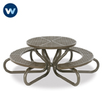 "Signature Series 42"" Round Table with Concave Seating - 6 Legs - Portable"