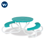 "Signature Series 42""  Round Table with Concave Seating - 4 Legs - Portable"