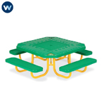 Signature Series Children's Square 46 inch Alphabet  Portable Table